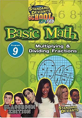 Standard Deviants School - Basic Math - Program 9 - Multiplying and Dividing Fractions DVD Movie