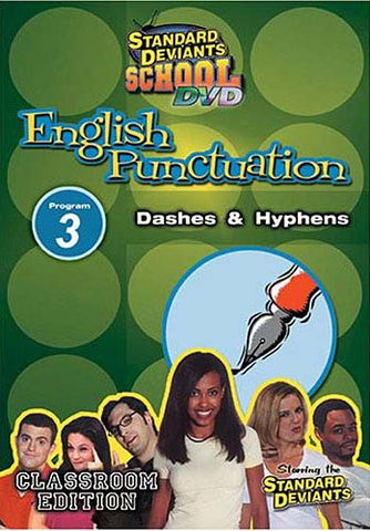 Standard Deviants School - English Punctuation, Program 3 - Dashes and Hyphens (Classroom Edition) DVD Movie