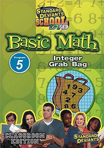 Standard Deviants School - Basic Math - Program 5 - Integer Grab Bag (Classroom Edition) DVD Movie