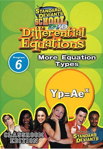 Standard Deviants school - Differential Equations Module 6 More Equation Types DVD Movie