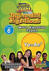 Standard Deviants school - Differential Equations Module 6 More Equation Types