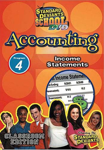 Standard Deviants School - Accounting, Program 4 - Income Statements (Classroom Edition) DVD Movie