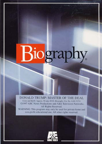 Donald Trump - Master of the Deal (Biography) DVD Movie
