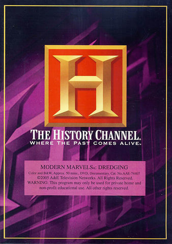 Modern Marvels - Dredging- History Channel DVD Movie
