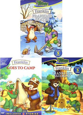 Franklin Goes to Camp / Franklin Skates / Franklin's Sailboat (3 pack) DVD Movie