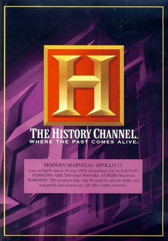 Modern Marvels - Apollo 13 (The History Channel) DVD Movie