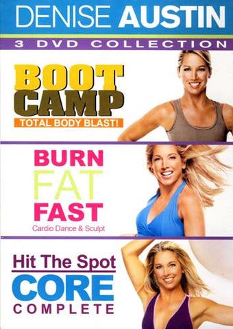 Denise Austin - Boot Camp Total Body Blast!/Burn Fat Fast/Hit The Spot Core Complete (Boxset) DVD Movie