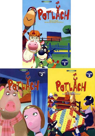 Potlach - Vol.1/2/3 (English Cover) (3 pack) DVD Movie