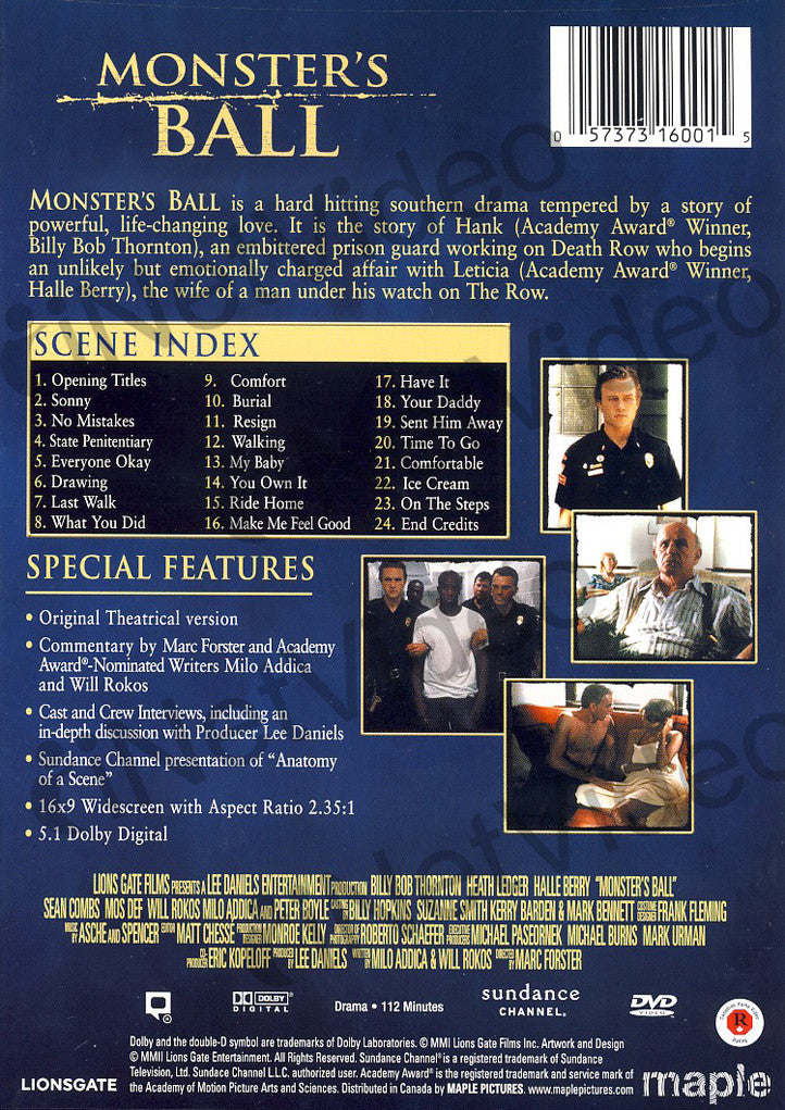 Monster S Ball Lionsgate Signature Series Dvd Movie