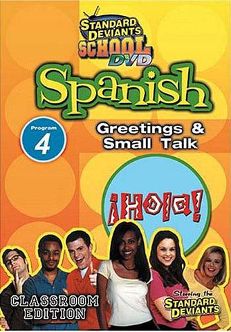 Standard Deviants School - Spanish - Program 4 - Greetings and Small Talk DVD Movie