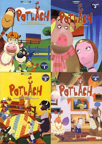 Potlach - Vol.1 / 2 / 3 / 4(French Cover) (4-pack) DVD Movie
