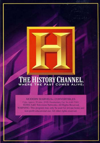Modern Marvels - Convertibles - The History Channel DVD Movie
