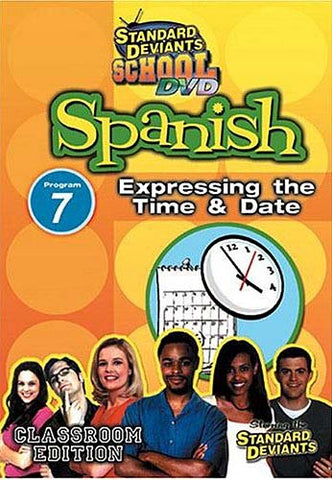 Standard Deviants School - Spanish - Program 7 - Expressing the Time and Date DVD Movie