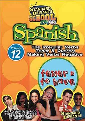 Standard Deviants School - Spanish - Program 12 - The Irregular Verbs Tener & Querer DVD Movie