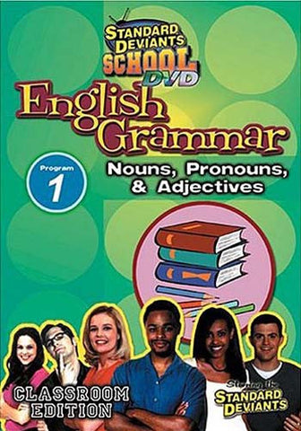 Standard Deviants School - English Grammar - Program 1 - Nouns, Pronouns and Adjectives DVD Movie