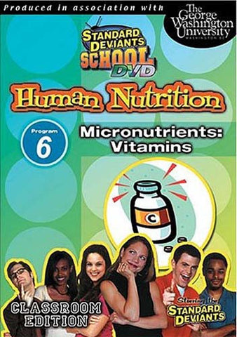 Standard Deviants School - Human Nutrition, Program 6 - Micronutrients Vitamins DVD Movie