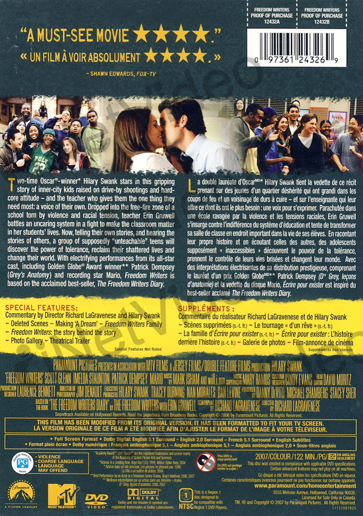 Freedom Writers Full Screen Edition On Dvd Movie