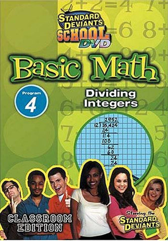 Standard Deviants School - Basic Math - Vol. 4 - Dividing Integers DVD Movie