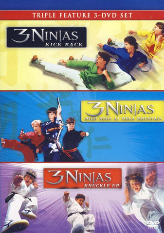 3 Ninjas Trilogy (3 Ninja Kick Back/3 Ninja Knuckle Up/3 Ninja High Noon At Mega Mountain) DVD Movie