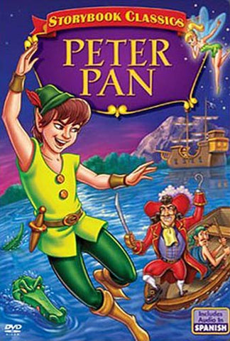 Peter Pan A Story Book Classic (Includes Audio In Spanish) DVD Movie