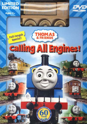 Thomas and Friends - Calling All Engines! (Limited Edition With Wooden Train Toy) (Boxset) DVD Movie