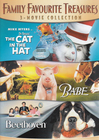 Family Favorite Treasures (The Cat in The Hat/Babe/Beethoven) (Bilingual) DVD Movie