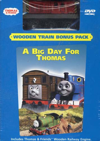 Thomas and Friends - Big Day for Thomas (With Wooden Toy Train) (Boxset) DVD Movie