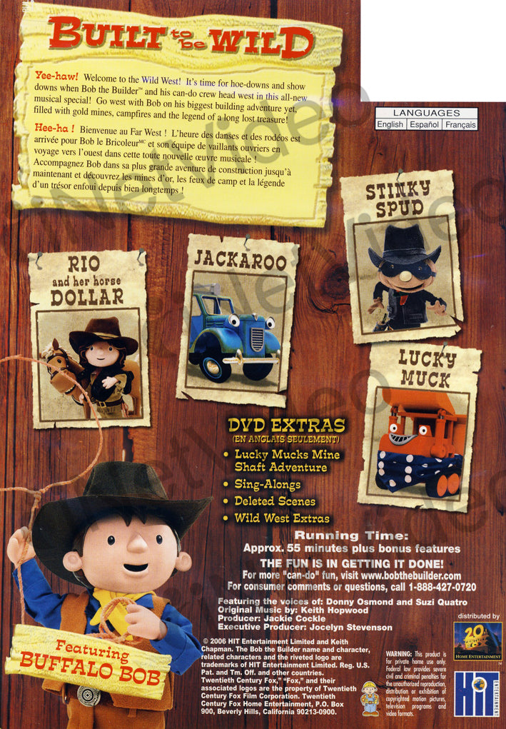Bob the builder built to be wild bilingual on dvd movie for Questions to ask a builder when buying a new home