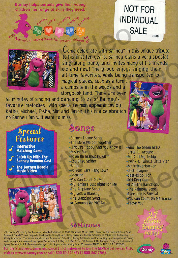 Barney - Sing and Dance with Barney on DVD Movie