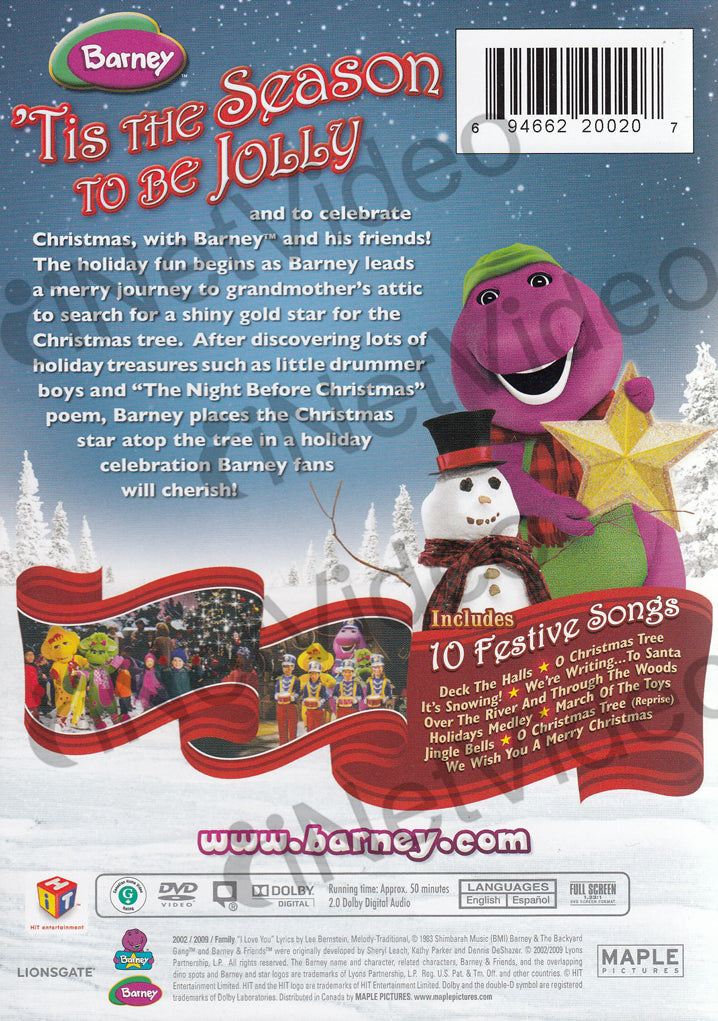 Barney - Christmas Star (Maple) (Includes 10 Festive Songs) on DVD Movie