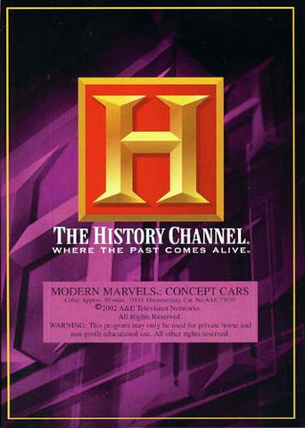 Modern Marvels - Concept Cars - The History Channel DVD Movie