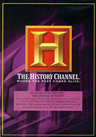 In Search of History - The Sphinx of Egypt - History Channel DVD Movie