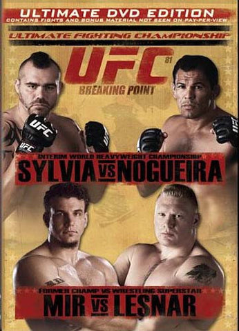 Ultimate Fighting Championship - Vol. 81 - Breaking Point DVD Movie