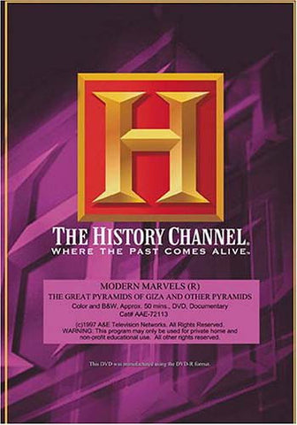 Modern Marvels - The Great Pyramids of Giza and Other Pyramids DVD Movie