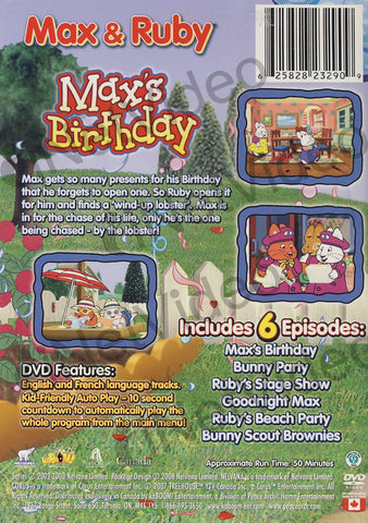 Max And Ruby - Max's Birthday DVD Movie
