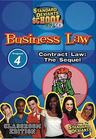 Standard Deviants School - Business Law, Program 4 - Contract Law the Sequel (Classroom Edition) DVD Movie