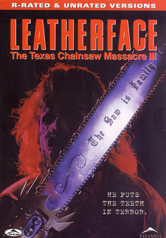 Leatherface - The Texas Chainsaw Massacre III (Rated and Urated Version) DVD Movie