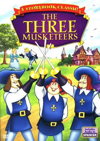 The Three Musketeers-A Story Book Classic (Animated) English and Spanish DVD Movie
