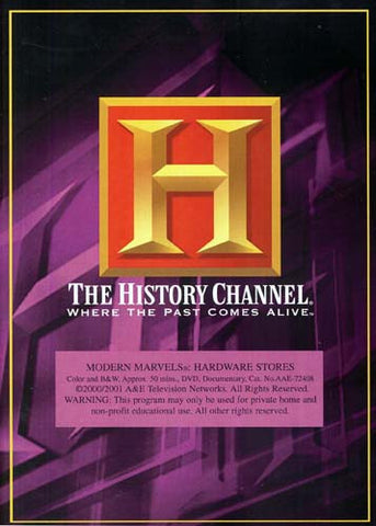 Modern Marvels - Hardware Stores - The History Channel DVD Movie