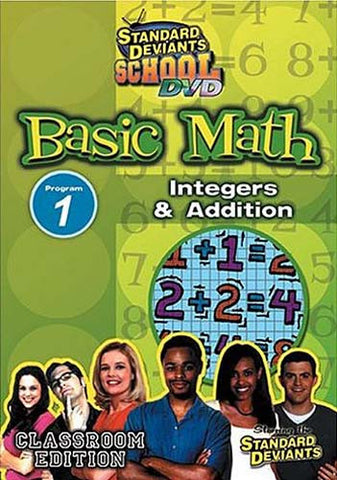 Standard Deviants School - Basic Math - Program 1 - Integers and Addition (Classroom Edition) DVD Movie