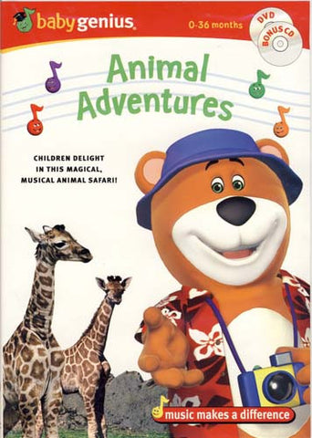 Baby Genius - Animal Adventures (With Bonus CD) DVD Movie