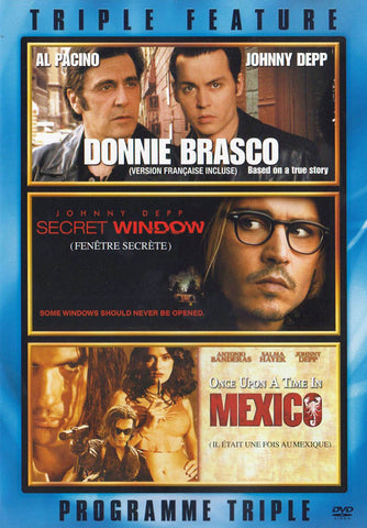 Donnie Brasco / Secret Window / Once Upon a Time In Mexico (Triple Feature) (Bilingual) DVD Movie
