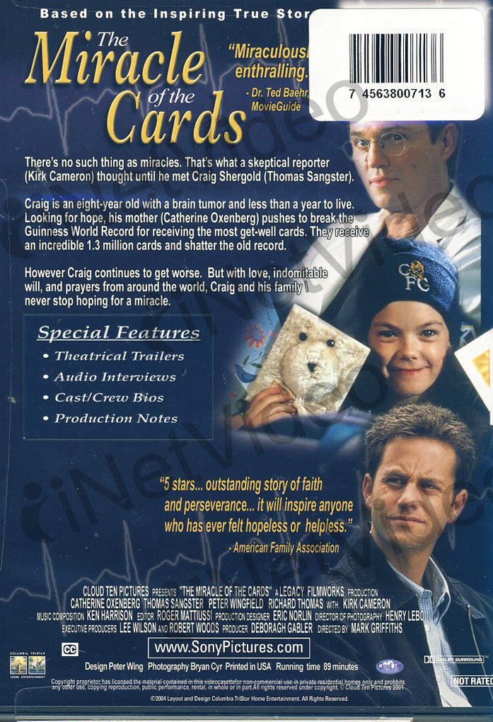 The Miracle of the Cards (Blue Cover) on DVD Movie