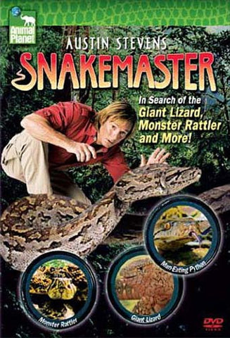 Austin Stevens, Snakemaster - In Search of the Giant Lizard, Monster Rattler and More DVD Movie