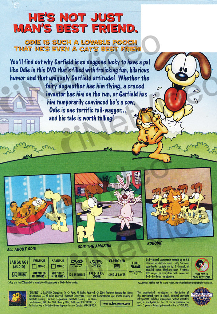 Garfield And Friends An Ode To Odie On Dvd Movie