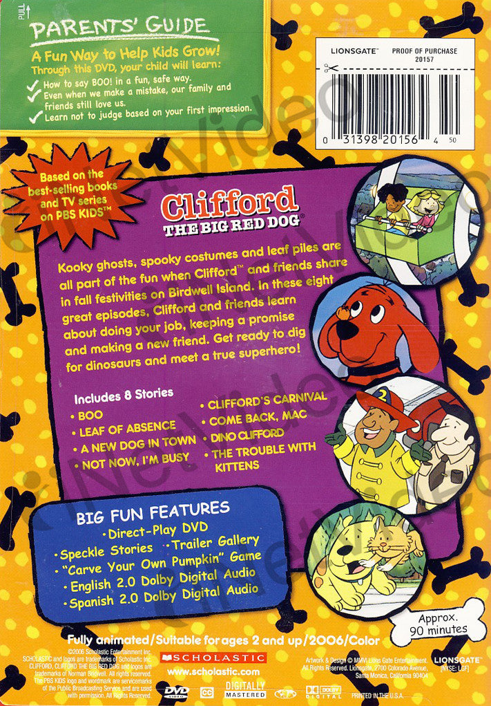 clifford the big red dog clifford s big halloween dvd movie