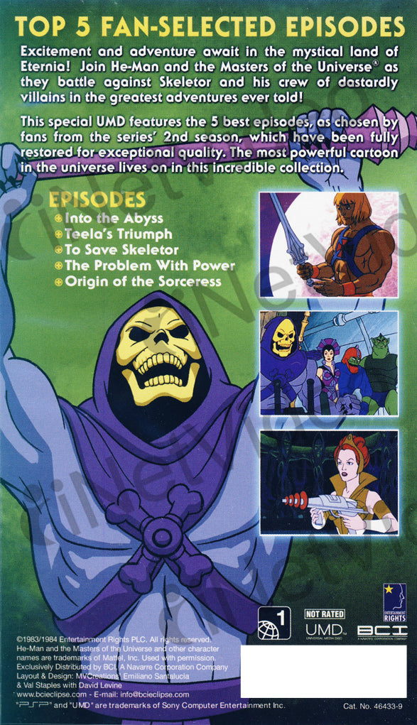 The Best Of He Man AndThe Masters Universe Season 2 UMD For