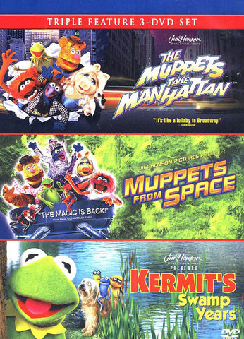 The Muppets Take Manhattan / Muppets From Space / Kermit s Swamp Years (Boxset) DVD Movie