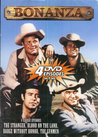 Bonanza (The Stranger/Blood on the Land/Badge Without Honor/The Gunmen) DVD Movie