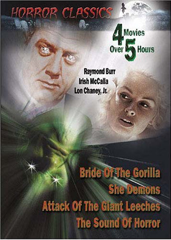 Horror Classics - Bride of the Gorilla/She Demons/Attack Of The Giant Leeches/The Sound Of Horror DVD Movie